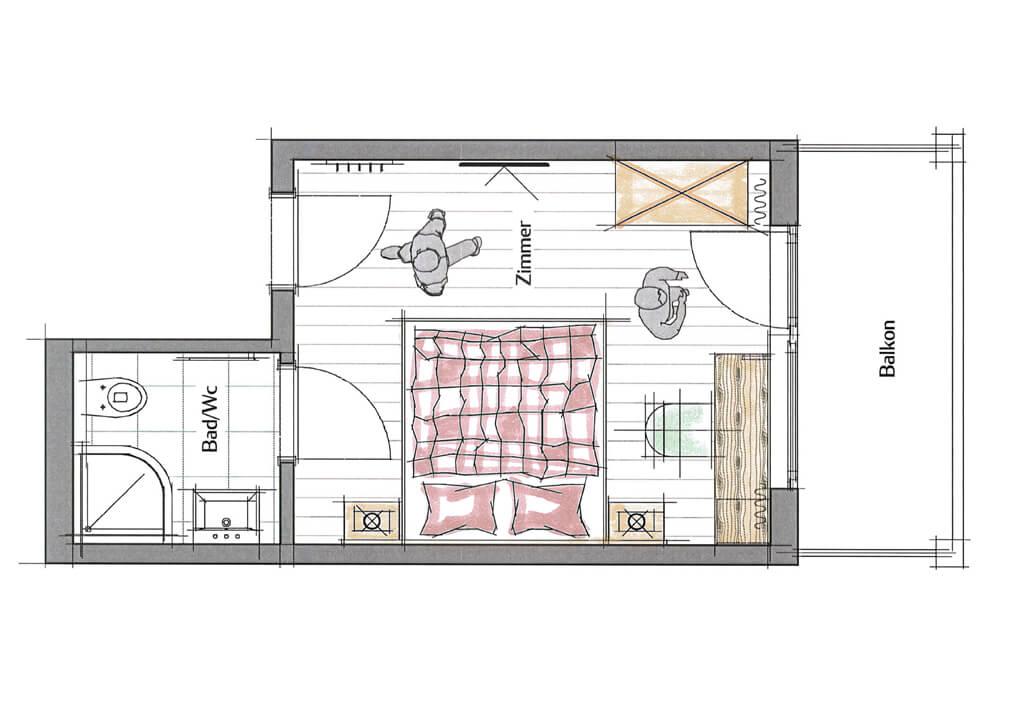 Doppelzimmer - Plan