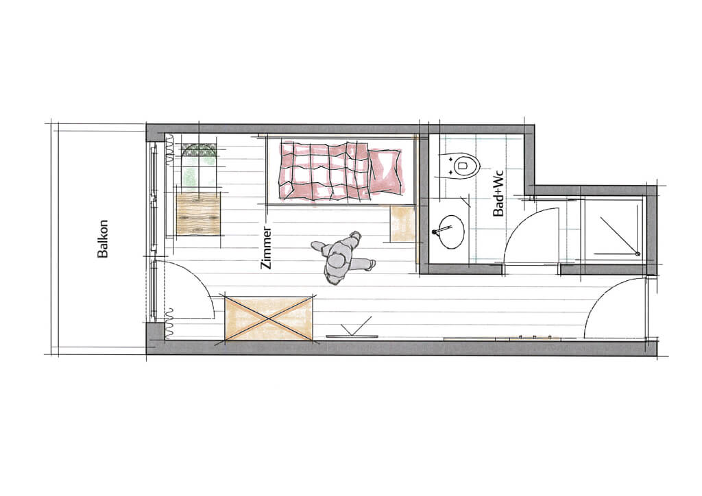 Einzelzimmer-Plan
